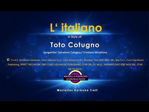Toto Cotugno - l'italiano (Karaoke Version)
