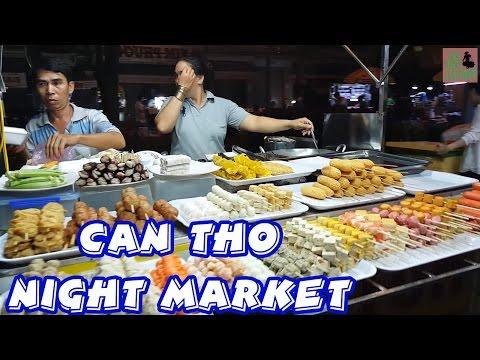 Vietnam Travel Can Tho Street Food Night Market | Cho Dem Ninh Kieu Can Tho