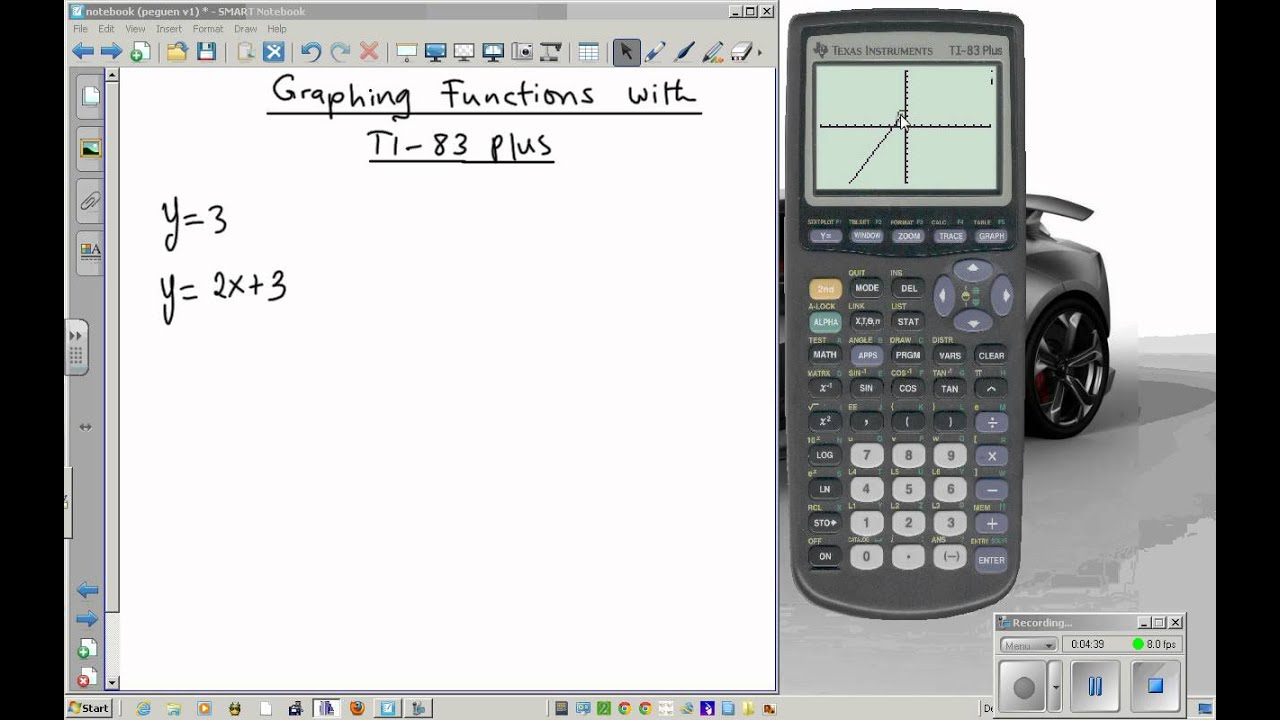 Using the ti-83 plus graphing calculator part 1 the basics and.