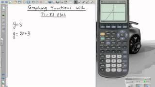 Using TI 83 plus TI 84 graphing calculator tutorial