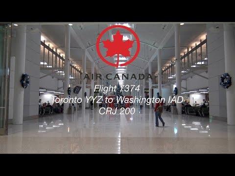 DELAYED AIR CANADA FLIGHT! Air Canada Flight 7374 Toronto YYZ To Washington IAD