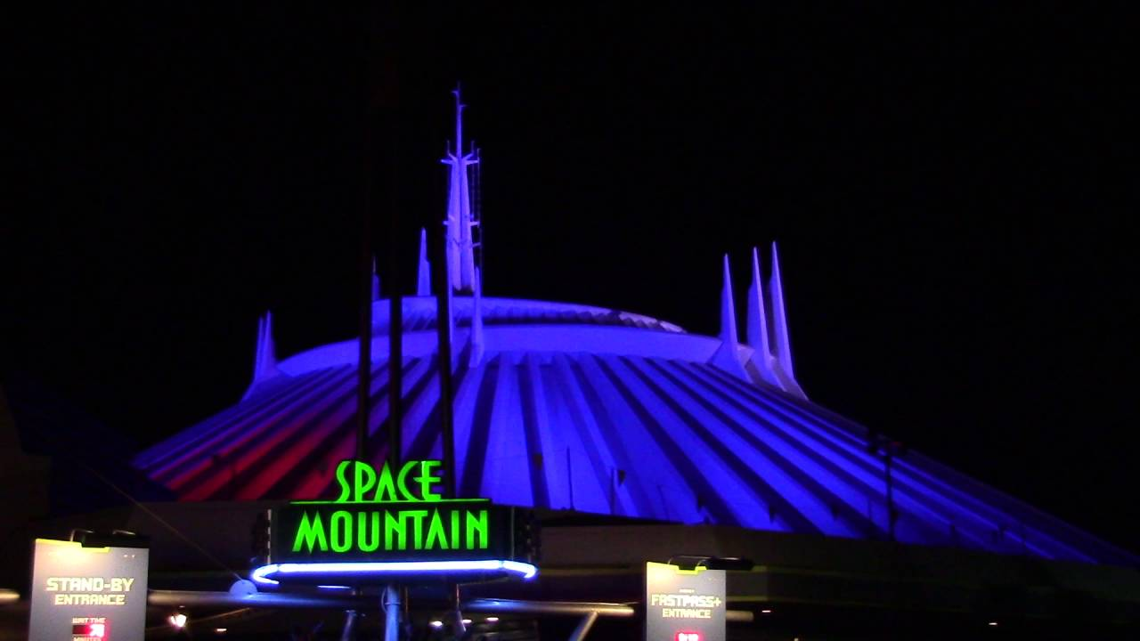 New Nighttime LED Lighting on Space Mountain - The Magic ...