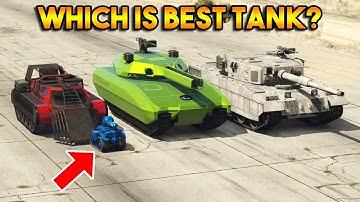 GTA 5 ONLINE : RHINO VS KHANJALI VS RC TANK VS SCARAB (WHICH IS BEST TANK?)