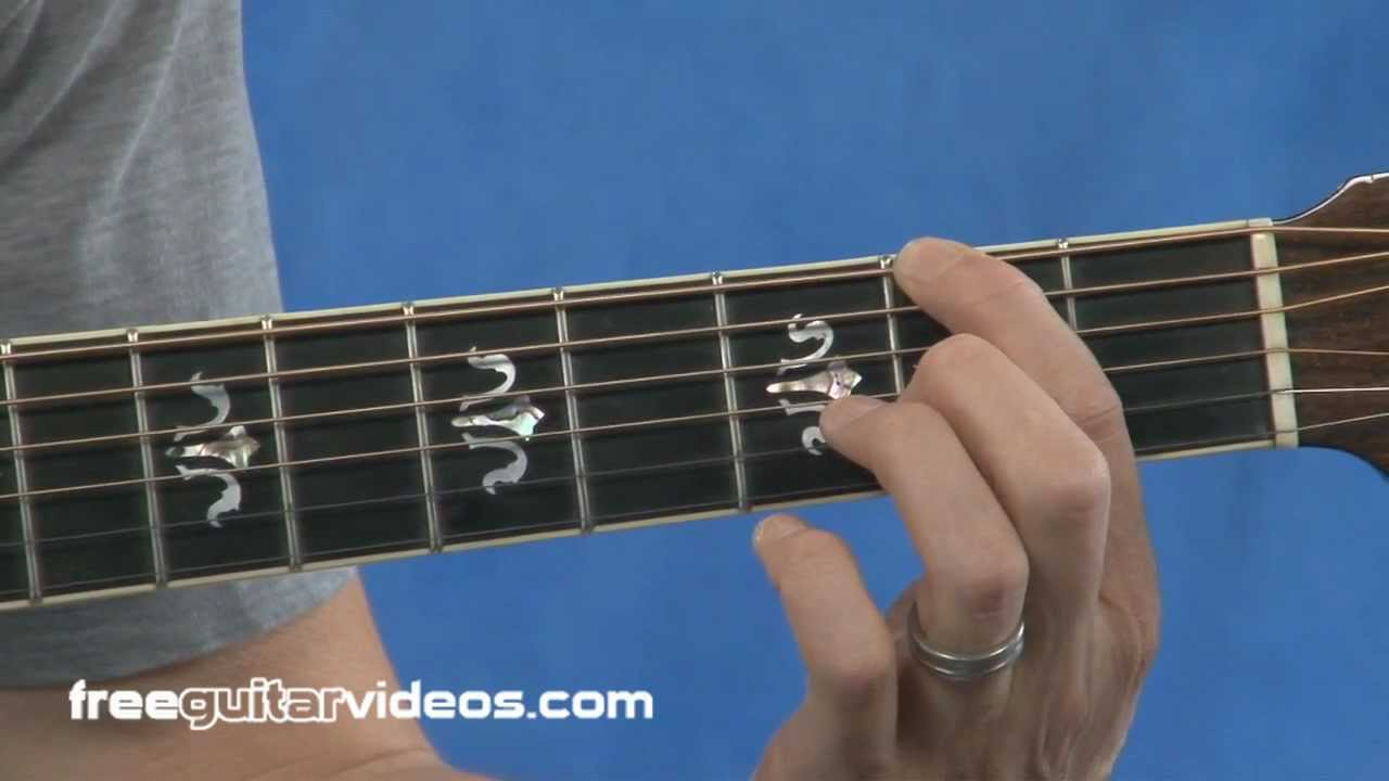 Finger Placement Guitar Lesson Youtube Other Fingers As Shown In Diagram For Method 2 The Index