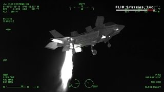 Thermal scan shows F-35 fighter jet in flight