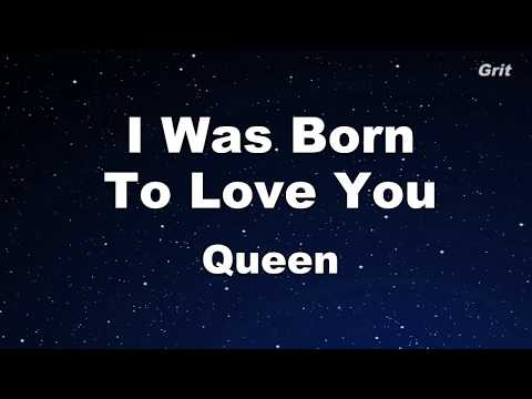I Was Born To Love You - Queen  Karaoke【Guide Melody】
