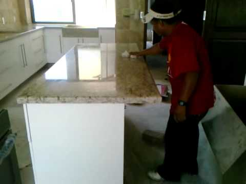 COCINA EN MDF CON GRANITO NATURAL SELLADOR - YouTube