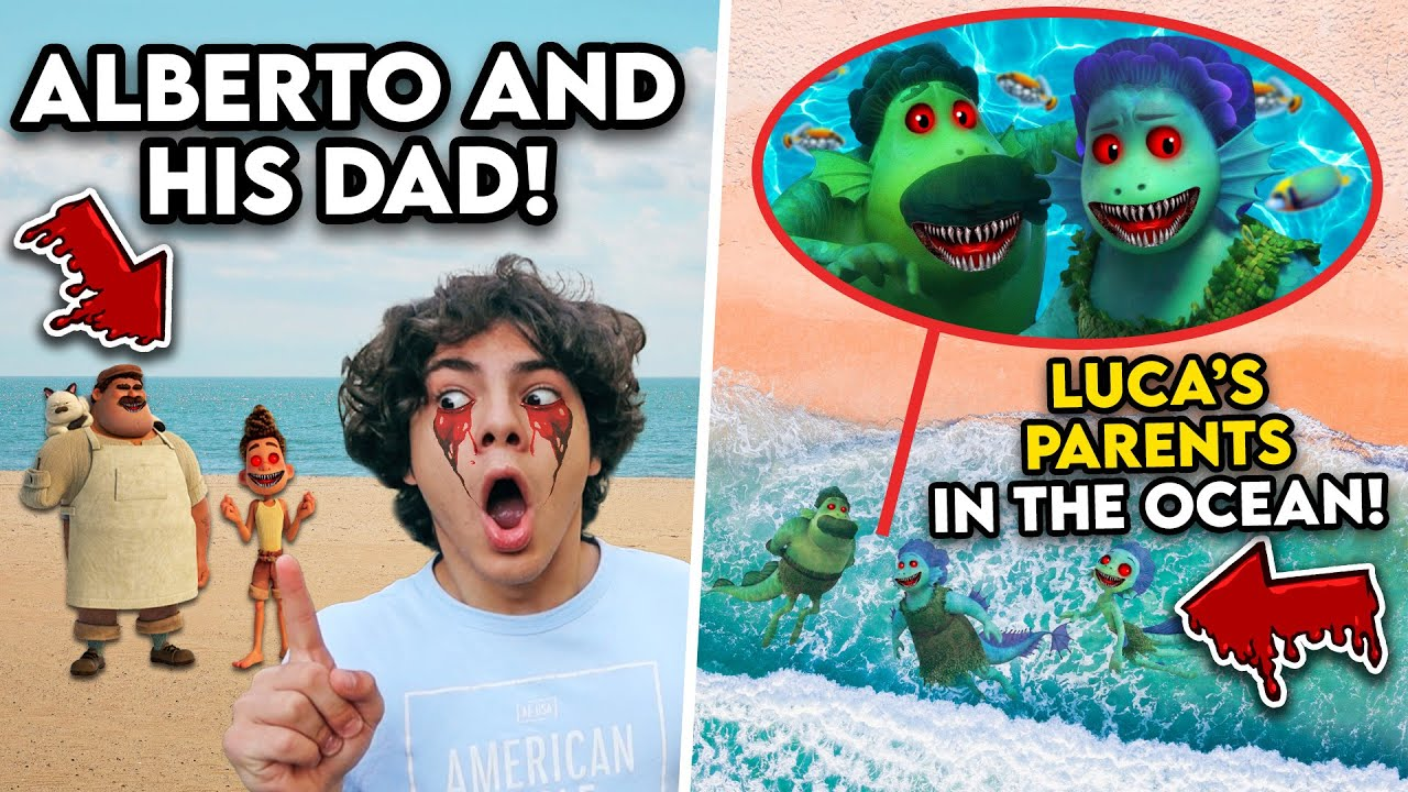 DRONE CATCHES LUCA'S PARENTS IN THE OCEAN!! (ALBERTO AND HIS DAD SPOTTED.. THEY ARE EVIL!)