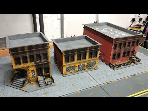 Simple Zombie Apocalypse MDF Building Painting Techniques