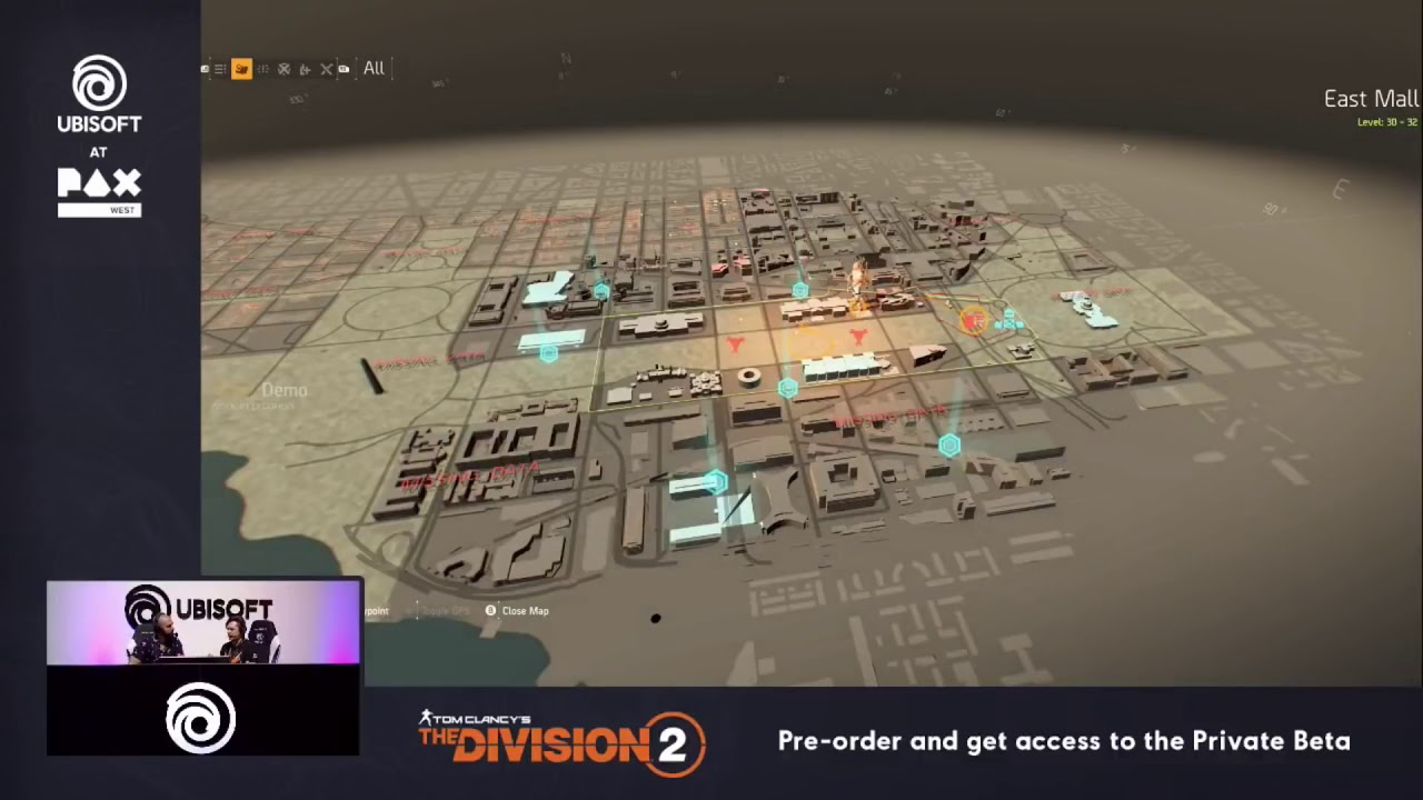 Tom Clancy's The Division 2 - New Gameplay Washington D C 's Map