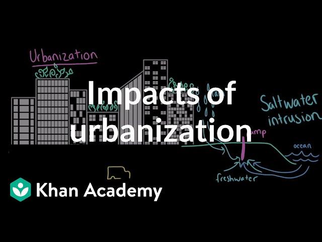 Impacts of Urbanization  AP Environmental science  Khan Academy