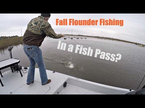 Flounder Fishing in a Fish Pass.(Sabine Lake,Texas)