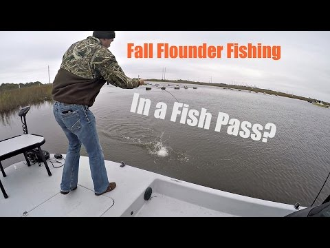Flounder Fishing In A Fish Pass.(Sabine Lake,Texas)