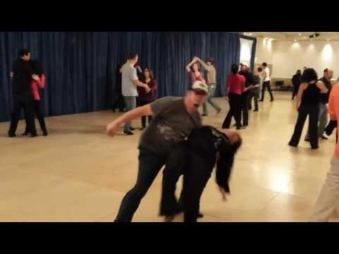Casey Miller & Jasmine S. Williams 1-26-14 FS 2014 improv wesr coast swing social dancing