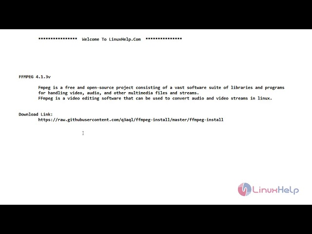 How to install FFMPEG on CentOS 7 6 | LinuxHelp Tutorials
