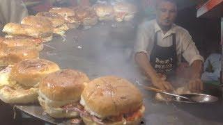 Angry Burger Shop - Bun Kabab at Street Food of Karachi Pakistan