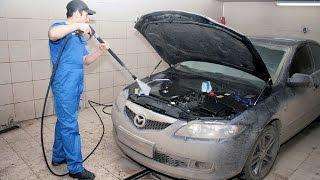 как правильно мыть двигатель автомобиля видео