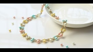 Pandahall Video Tutorial –How to Make a Simple Handmade Pearl Beaded Necklace with Seed Beads