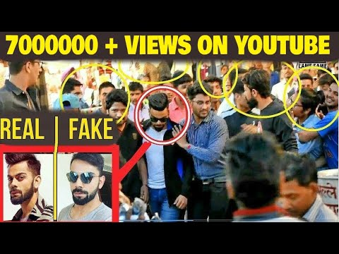 Fake Celebrity Prank   VIRAT KOHLI   Fans Awesome Reactions