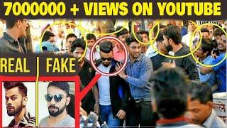 Fake Celebrity Prank | VIRAT KOHLI | Fans Awesome Reactions