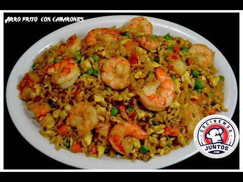 arroz frito chino con camarones - Comida China