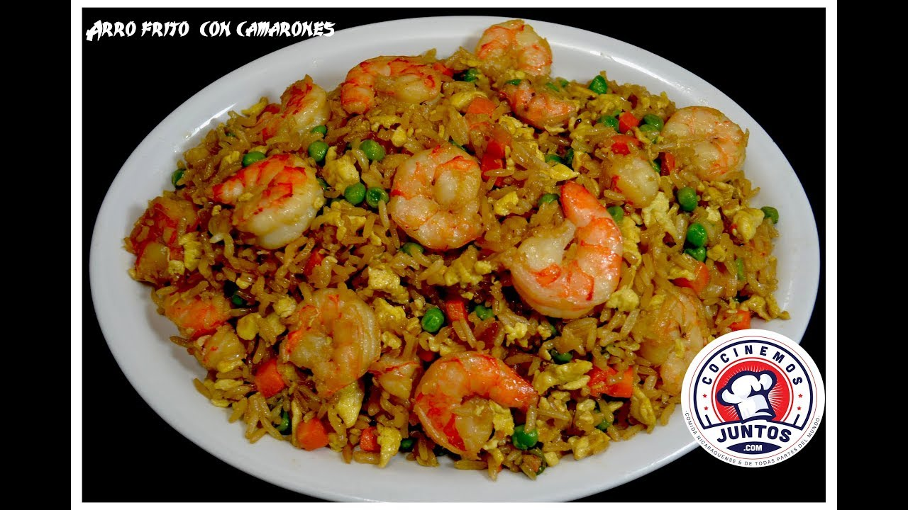 Arroz frito chino con camarones comida china youtube for Resetas para preparar comida