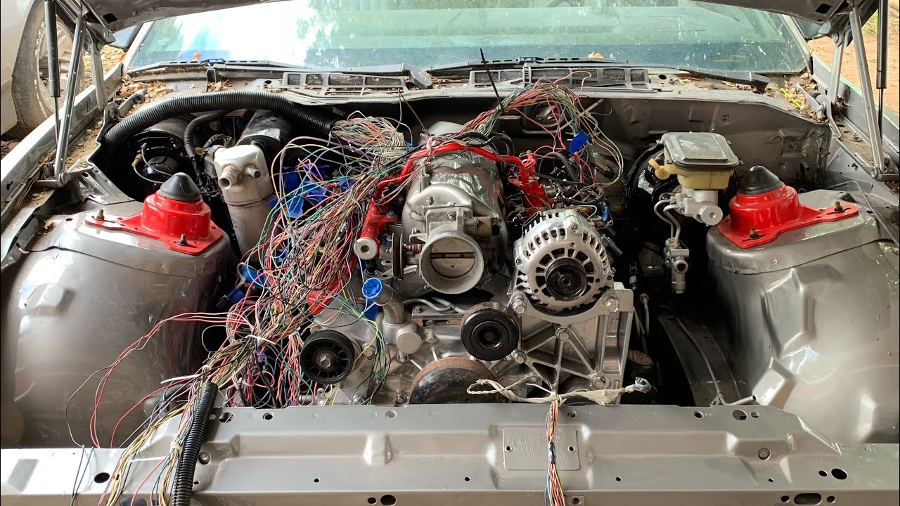 hight resolution of 1983 trans am ls swap 5 3 4l60e update 2 wire harness and stainless steel fuel line