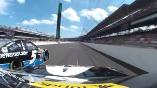 Jeff Gordon 2014 Brickyard 400 onboard Indianapolis, Indiana last half