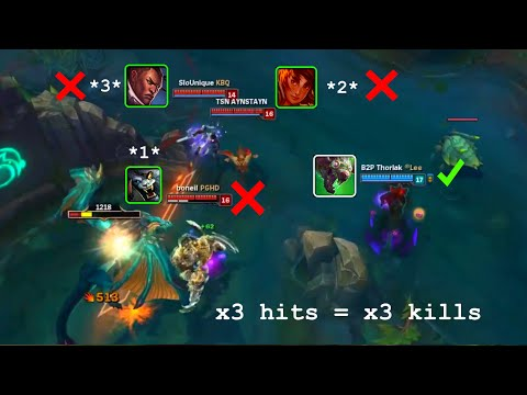 LoL Best Moments #46 Twitch 3 hits, 3 kills (League of Legends)