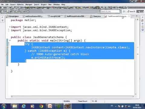 Mapping Objet XML avec JAX BINDING JaxB Mater SID 09 04 14