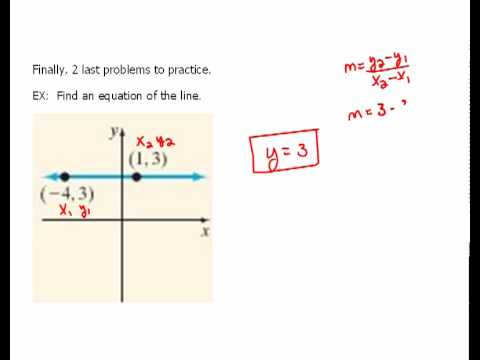 Worksheets Horizontal Line And Vertical Line writing equations of horizontal vertical lines 1 6 youtube 6