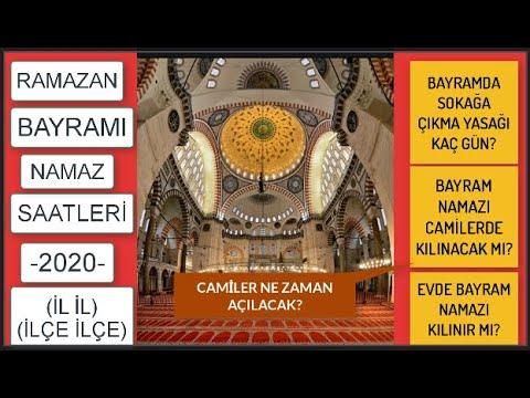 İl il Ramazan Bayramı namaz saatleri/Bayram namazı kılınacak mı/Camiler açılacak mı/Bayram yasakları