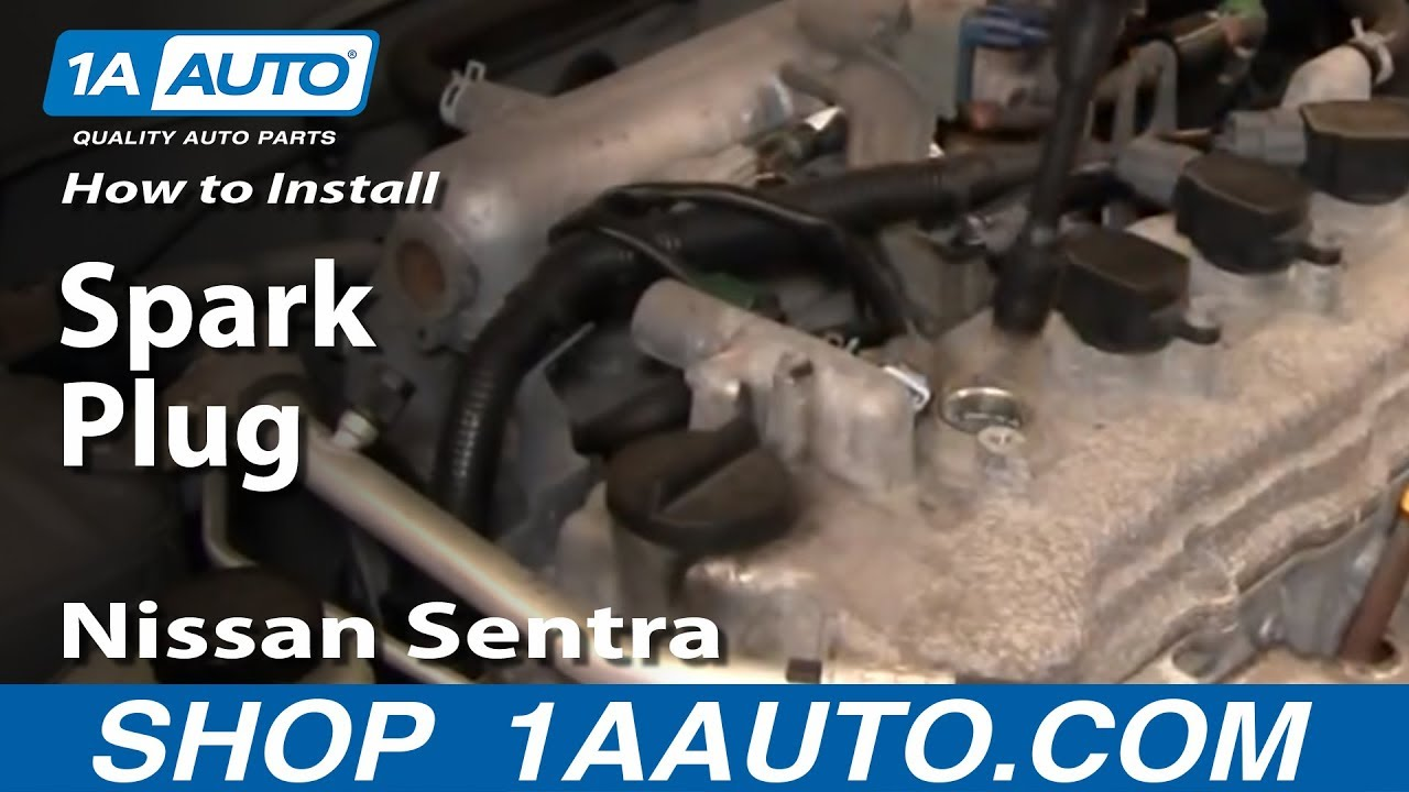 maxresdefault how to install replace spark plugs nissan sentra 04 06 1aauto com 2004 nissan sentra 1.8 fuse box diagram at gsmportal.co