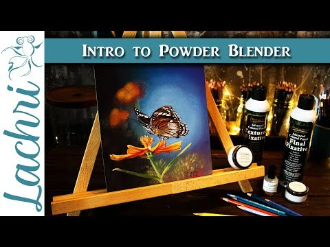 Colored Pencil Blending - Your first project with Powder Blender  -  Lachri