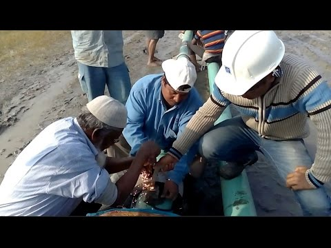 Thermite Welding (termite Svetsning) Video On Pipe  For Cathodic Protection