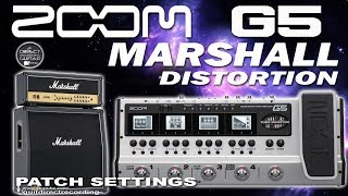 ZOOM G5 MARSHALL Distortion, distorção. Guitar Patches for Zoom G5,...