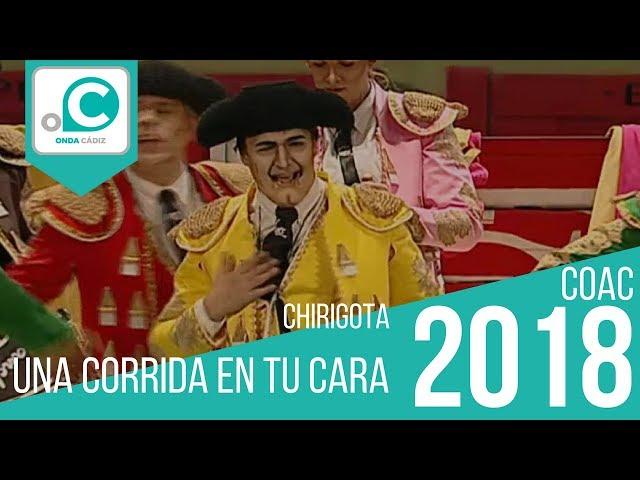 La chirigota 'Una corrida en tu cara' canta a Andrea Janeiro