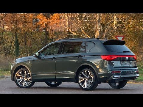 Seat NEW Tarraco FR in 4K 2021 Dark Camouflage 20 inch Machined walk around & detail inside