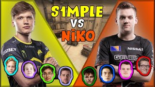 S1mple vs FaZe Niko (With Monesy and Rain) - Fpl Csgo Stream Battles