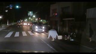 【ドラレコ】車道に自転車転倒!あぶなっ thumbnail