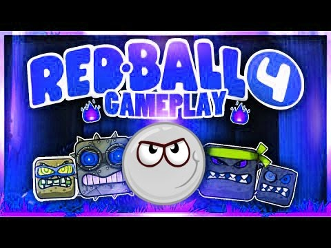 BLACK BALL No! WHITE Orange ball Plays REDBALL 4 ! Game Walkthrough + ALL Boss fight