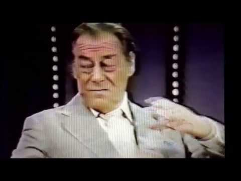 "Merv Griffin interview Rex Harrison discussing ""My Fair Lady"". 1981."