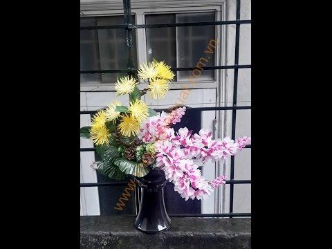 Hướng dẫn làm và cắm hoa pha lê nghệ thuật
