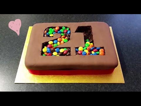 Diy M M Madness Pinata Number Birthday Cake