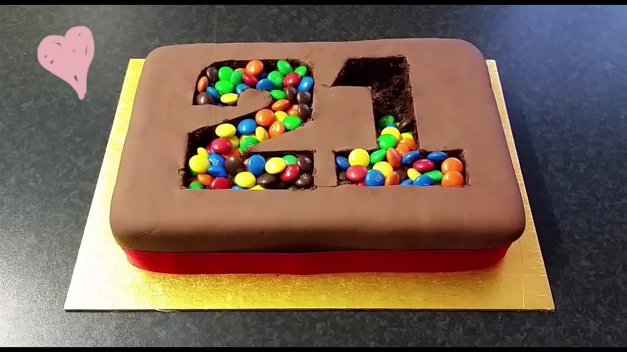 """M&M Madness!"" Birthday Cake - YouTube"