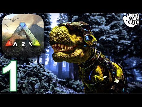 ARK SURVIVAL EVOLVED MOBILE - Crafting Campfire + Hunting - Gameplay Part 1 (iOS Android)