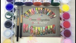 Libro + colori Oksana Borzenkova Design one stroke (micropittura) + pratica Thumbnail