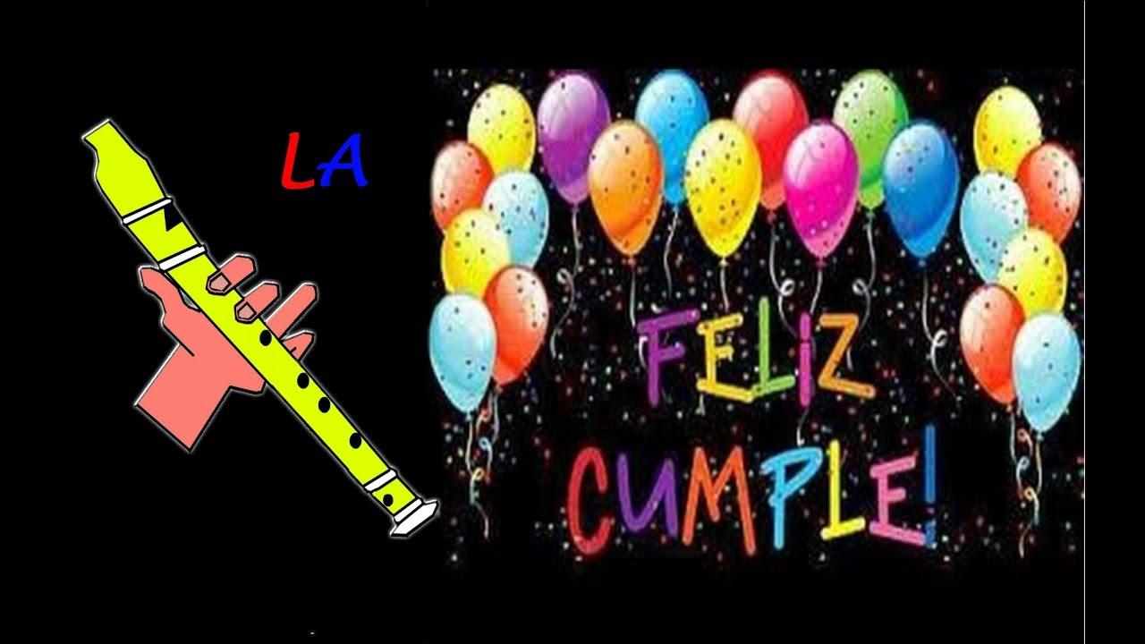Feliz Cumpleanos Flauta Dulce Facil Tutorial Happy Birthday