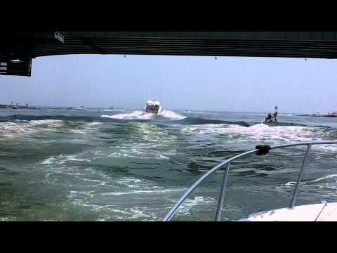 Going Out The Indian River Inlet To The Ocean (Delaware)