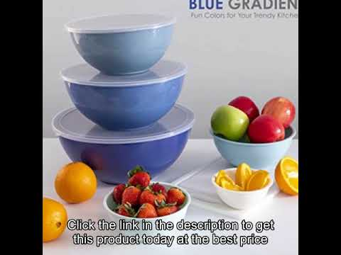 12 Piece Nesting Bowls Set i... Cook with Color Plastic Mixing Bowls with Lids